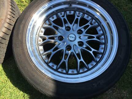 Holden Commodore ROH chicane rims 17x8 with tyres mags