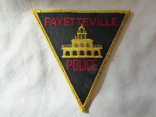 FAYETTEVILLE NORTH CAROLINA POLICE UNIFORM EMBLEM PATCH, NEW UNUSED!