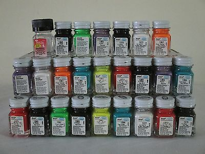 25 PIECE TESTORS ACRYLIC PAINT LOT NEW 1/4 OZ MODELS CRAFTS ASSORTED COLORS