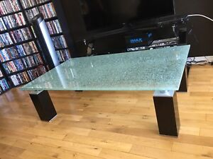 """High end unique """"shattered glass"""" look coffee table"""