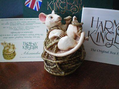 Harmony Kingdom Alexandre Mouse on Yarn UK Made Marble Resin Box Figurine NIB