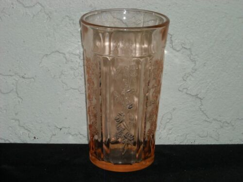 Sharon Cabbage Rose Thick 12-Ounce Tumbler  Pink