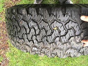 """33"""" tires great tread but has weather cracks. 400 obo"""