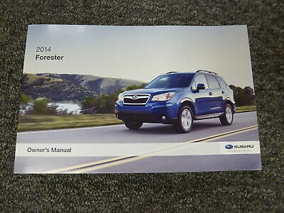 2014 Subaru Forester SUV Owner Manual 2.5i 2.0XT Premium Limited Touring CVT NEW