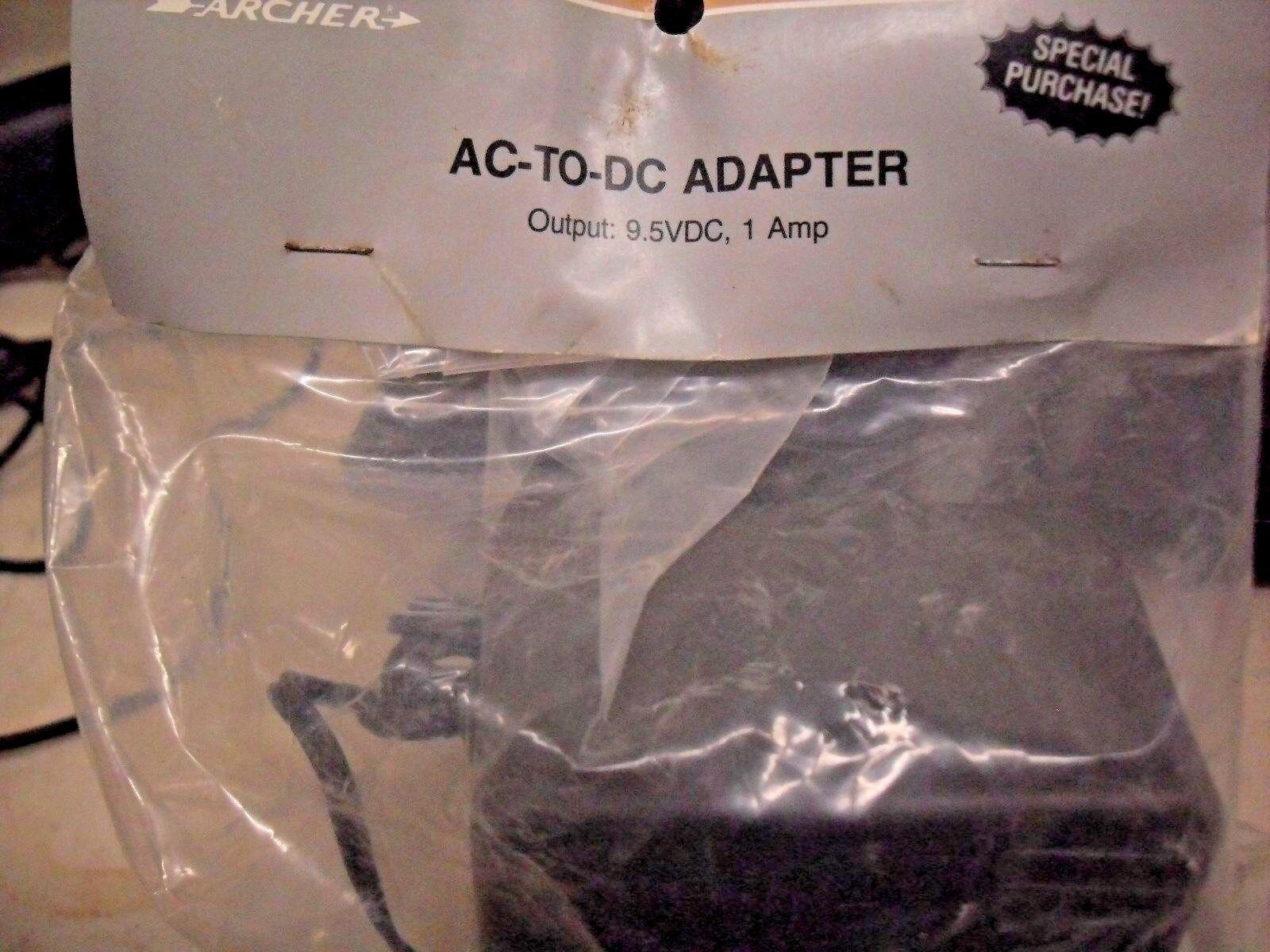 ARCHER 273-1026 Power Adapter Radio Shack Speaker Calculators AC 9.5VDC 1 AMP