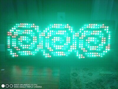 Led Scrolling Sign 40x15 Programmable 7color Sign Message Board.
