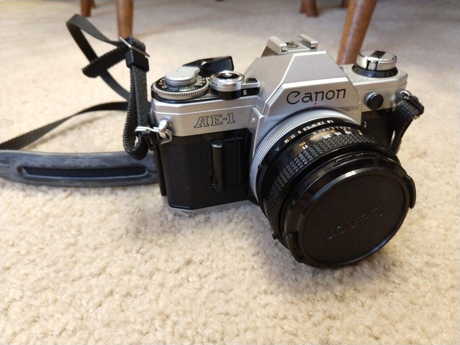 VINTAGE Canon AE-1 Program 35mm Film Manual Camera w/ 50mm F1.8 Lens