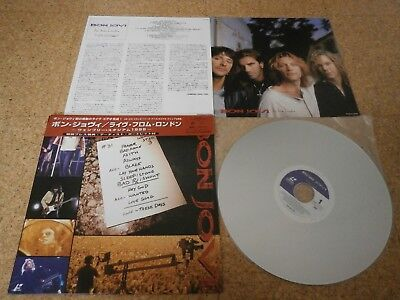 Bon Jovi ~ Live From London/ Japan LD Laserdisc/ Cap OBI Potrait Sheet