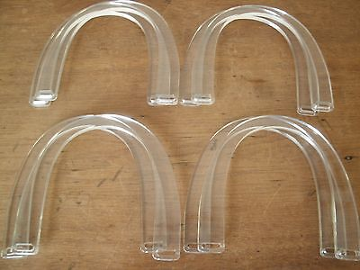 Lot of 4 sewing Purse Handles - crafting crochet sewing  CLEAR Plastic