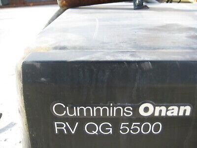 Cummins Onan 5.5hgjab-1038 Rv Qg 5500 Watt 120v Single Phase 60hz Gas Generator
