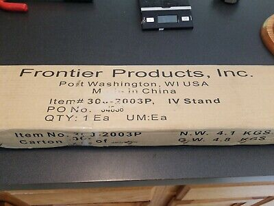 New Frontier Products Inc. 300-2003p Rolling Stainless Steel Iv Stand W Wheels