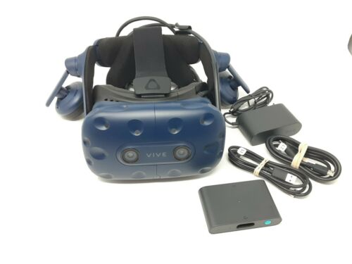HTC VIVE Pro Virtual Reality VR Headset Hi-Res AMD with Link Box