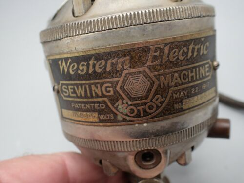 ANTIQUE Western Electric Sewing Machine NICKEL Plated Motor TESTED