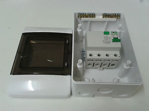 4 Pole 3 phase 4 Module RCD  with IP40 Enclosure Box