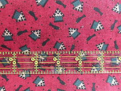 Debbie Mumm Bird - Debbie Mumm CROW birdhouse black bird cotton fabric RED or CREAM half yard 1/2