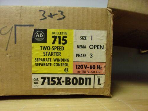 715X-BOD11 ALLEN BRADLEY 2 SPEED STARTER