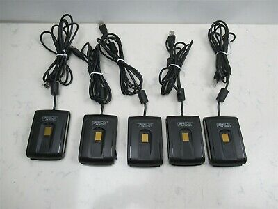 Lot 5 Fingerprint Scanner Smart Card Reader Precise Biometrics 200 Mc Usb Combo