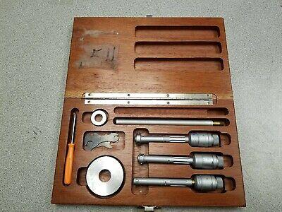 Brown Sharpe 0.500-0.800 Bore Micrometer Set Setting Rings Original Box