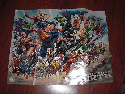 DC Universe Rebirth Poster 27 x 34 SDCC 2016 San Diego Comic Con '16 Great Gift!