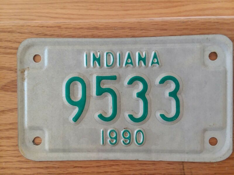 1990 INDIANA Motorcycle License Plate