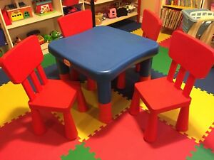 Little Tykes table and IKEA chairs