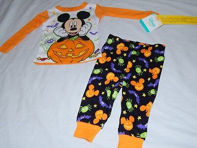 NEW Mickey Mouse Figure Halloween Disney Pumpkin Pajamas Outfit Boys 9 12 months - Mickey Mouse Halloween Outfit