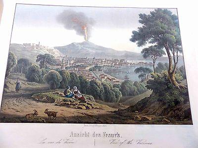 Italien Neapel Vesuv Italia Napoli Vesuvio 1860