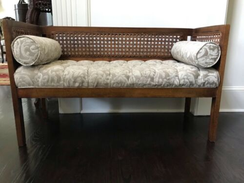 Lewittes cane tufted bench
