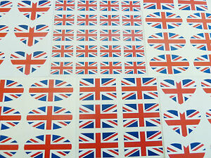 Mini-Sticker-Pack-British-Union-Jack-Self-Stick-Great-Britain-GB-Flag-Labels