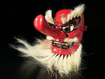Free shipping Japanese mask TENGU Noh Bugaku Gigaku Kyougen Kagura