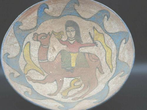 Antique 12th century khorasan ceramic pottery islamic calligraphic big bow #A599