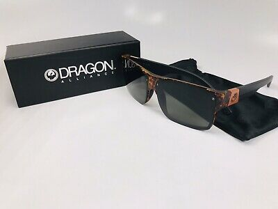 Dragon Reverb Sunglasses (DRAGON Sunglasses DR REVERB 241 Polished Walnut & Matte Black with Grey Lenses )