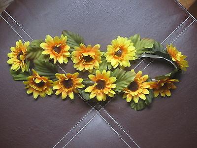 Sunflower Themed Party (Silk Flower Sunflower Stretch Headband Concert Sorority Theme Party)