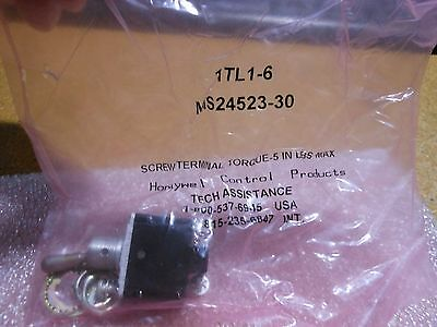 Honeywell Toggle Switch Part 1tl1-6 Nsn 5930-00-683-1626 Ms24523-30