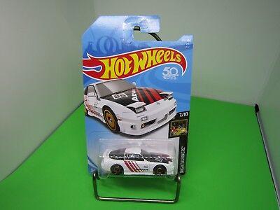 '96 Nissan 180SX Type X #214 * WHITE * 2018 Hot Wheels J Case 50TH ANNIVERSARY