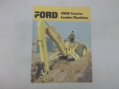 Ford Model 4500 Tractor Loader Backhoe Sales Brochure