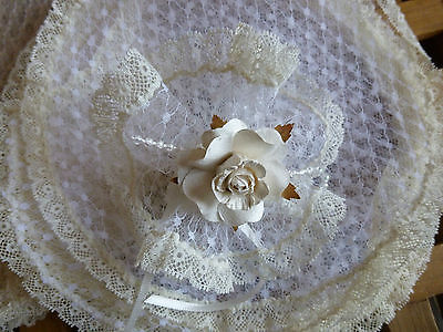 10 Lacy Vintage Nets -Bomboniere/ Wedding Favours/ Christenings/First Communions](First Communions)