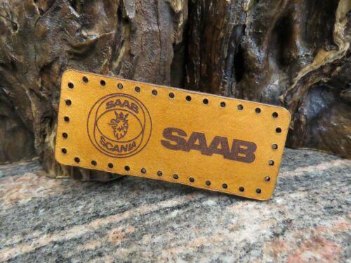 SAAB Sew on Patch Genuine leather 939