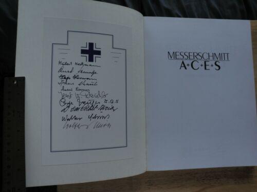 MESSERSCHMITT ACES AUTHOR WALTER MUSCIANO  W/10 GERMAN PILOT SIG MINT COND