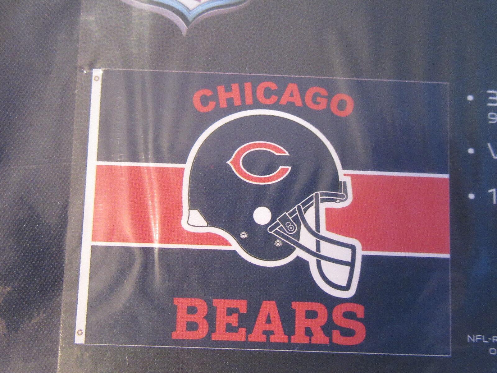 "Chicago Bears Flag 36 x 47"" NEW Trubisky Walter Payton Sayer"