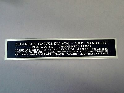 Charles Barkley Suns Nameplate For A Basketball Jersey Case Or Photo 1.25 X 6