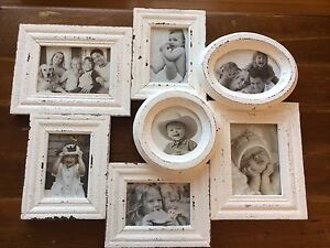 Picture frame with seven windows