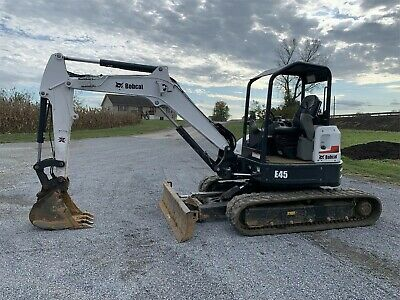 2019 Bobcat E45 Mini Excavator 1220 Hrs