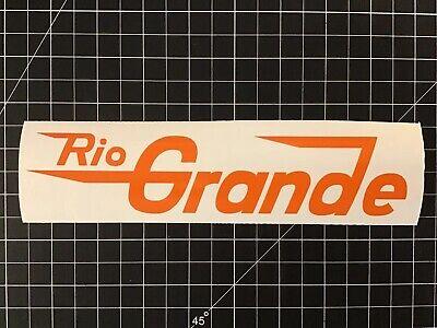 Denver And Rio Grande Western Railroad Decal - Speed Lettering Denver And Rio Grande Western Railroad