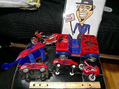 MARVEL VINTAGE SPIDER-MAN ITEMS 2 BUDDY L VANS JAPAN ,JEEP, 2 MOTORCYCLES,ETC'