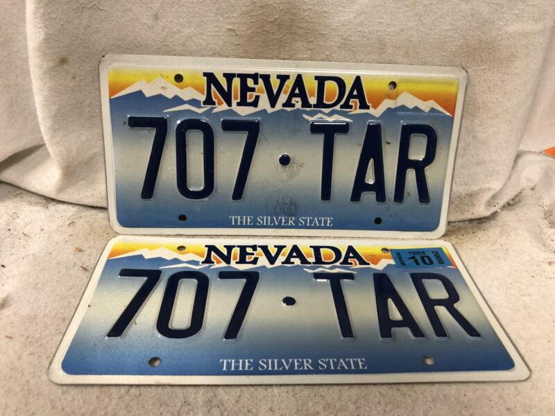 2006 Nevada License Plate Pair