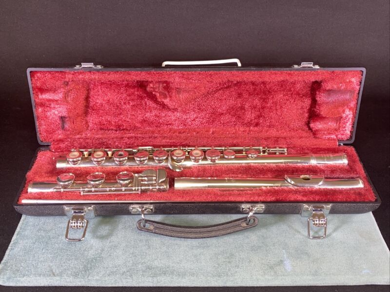 Yamaha Flute YFL385 Open Hole .925 Solid Silver Head Joint w/ Hard Case