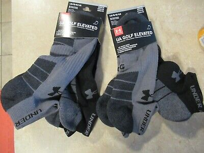 Lot 2 new 2 pack UA under armour golf elevated no show socks L