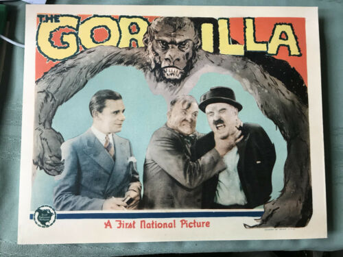 """The Gorilla 1927 First National 11x14"""" silent lobby card Charlie Murray"""