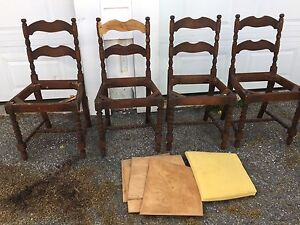 4 antique dining room chairs Need refinishing